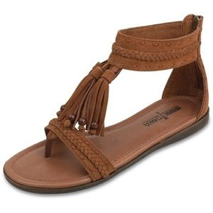 Minnetonka Suede Fringe Sandals